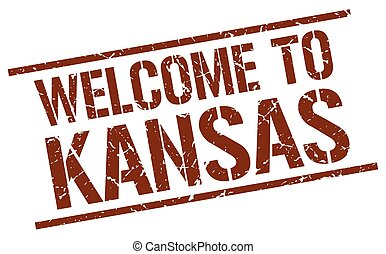 welcome to Kansas stamp