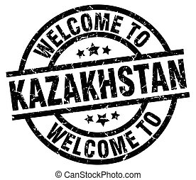 welcome to Kazakhstan black stamp