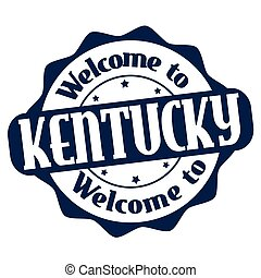 Welcome to Kentucky sign or stamp