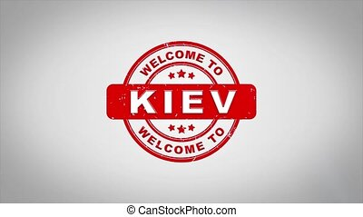 Welcome to KIEV Signed Stamping Text Wooden Stamp Animation....