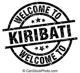 welcome to Kiribati black stamp
