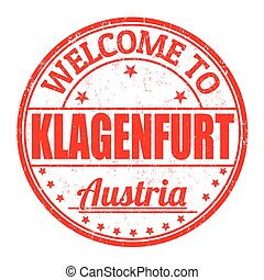 Welcome to Klagenfurt, Austria stamp