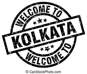 welcome to Kolkata black stamp