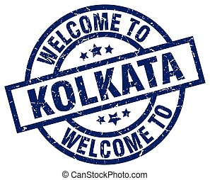 welcome to Kolkata blue stamp