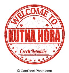Welcome to Kutna Hora stamp - Welcome to Kutna Hora grunge...