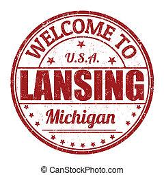 Welcome to Lansing stamp