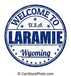 Welcome to Laramie stamp