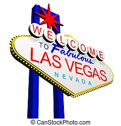 Welcome to Las Vegas - 3D render of the Welcome to fabulous...