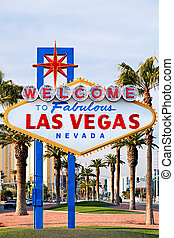 Welcome to Las Vegas sign - iconic sign on the strip in Las Vegas, Nevada