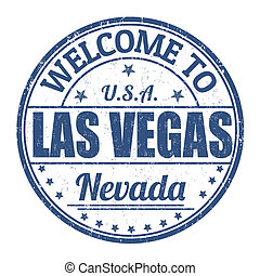 Welcome to Las Vegas stamp - Welcome to Las Vegas grunge...