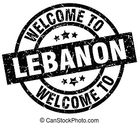 welcome to Lebanon black stamp
