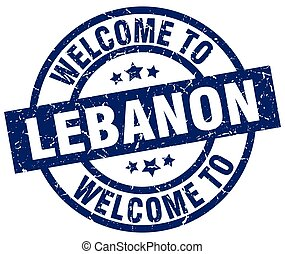welcome to Lebanon blue stamp