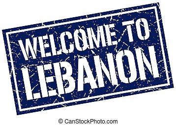 welcome to Lebanon stamp