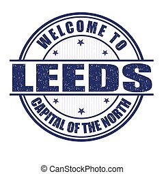 Welcome to Leeds stamp