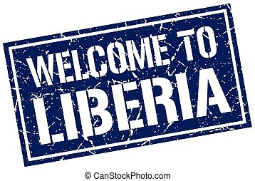 welcome to Liberia stamp
