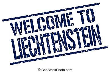 welcome to Liechtenstein stamp