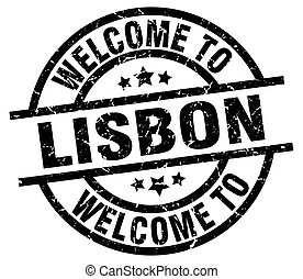welcome to Lisbon black stamp
