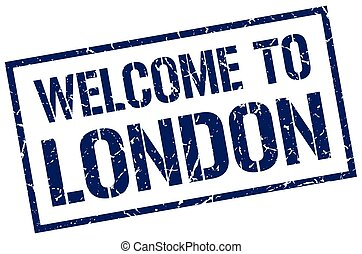 welcome to London stamp