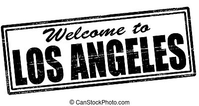 Stamp with text welcome to Los Angeles inside, vector illustration