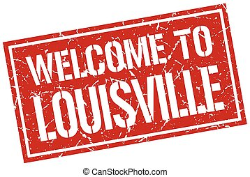 welcome to Louisville stamp