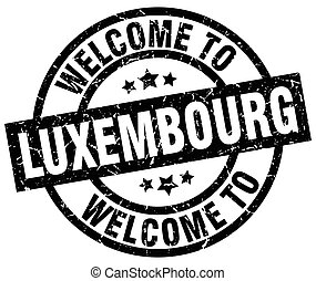 welcome to Luxembourg black stamp