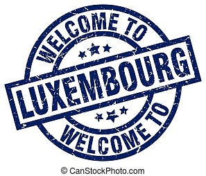 welcome to Luxembourg blue stamp