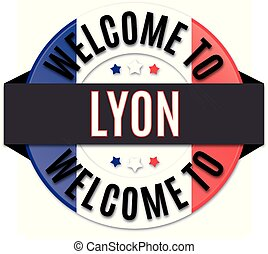 welcome to lyon france flag icon