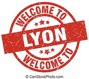welcome to Lyon red stamp