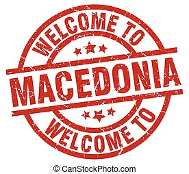welcome to Macedonia red stamp
