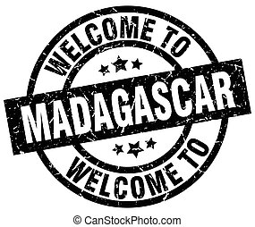 welcome to Madagascar black stamp