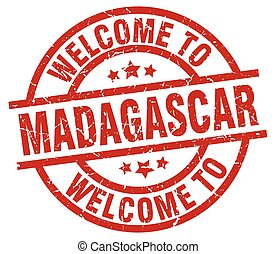 welcome to Madagascar red stamp