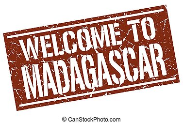 welcome to Madagascar stamp