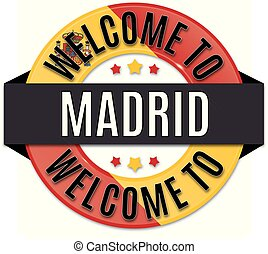 welcome to madrid spain flag icon