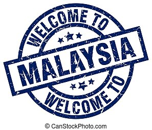 welcome to Malaysia blue stamp