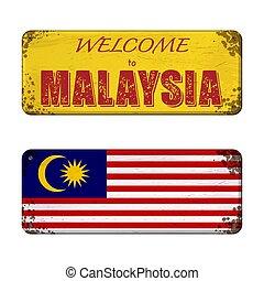 Welcome to Malaysia nameplate