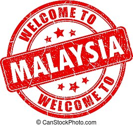 Welcome to Malaysia round stamp