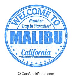 Welcome to Malibu sign or stamp