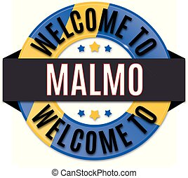 welcome to malmo sweden flag icon