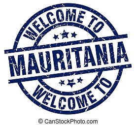 welcome to Mauritania blue stamp