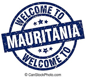 welcome to Mauritania blue stamp