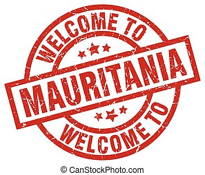 welcome to Mauritania red stamp
