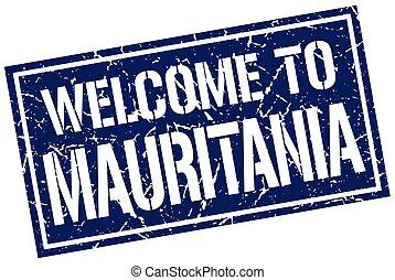 welcome to Mauritania stamp