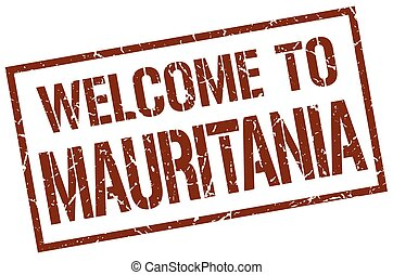 welcome to Mauritania stamp