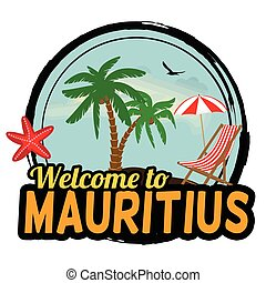 Welcome to Mauritius sign