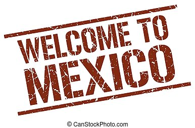 welcome to Mexico stamp