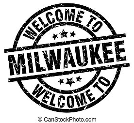 welcome to Milwaukee black stamp