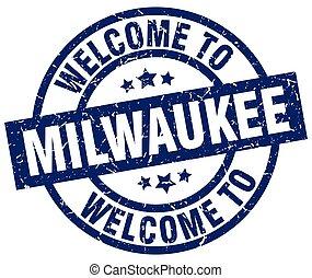 welcome to Milwaukee blue stamp