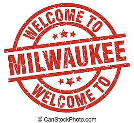 welcome to Milwaukee red stamp