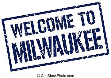 welcome to Milwaukee stamp