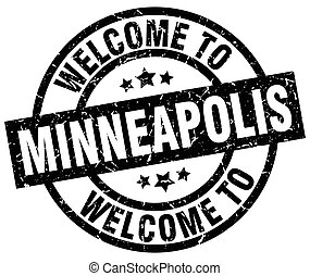 welcome to Minneapolis black stamp